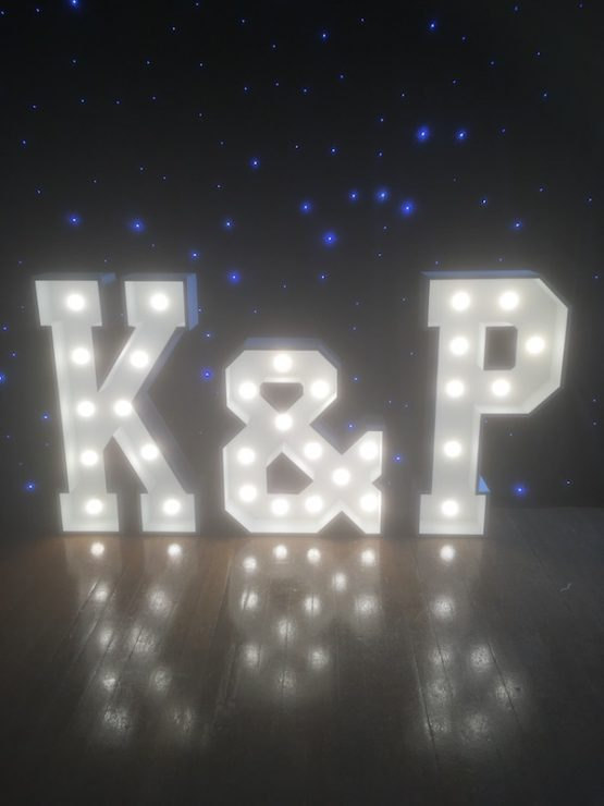 Light-up K&P Letters to hire