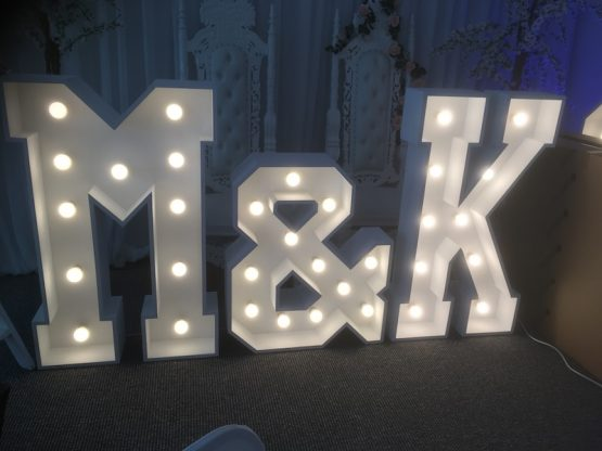 Light Up M&K Initials For Hire