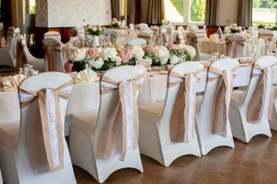 Hessian & Lace Sashes Hire