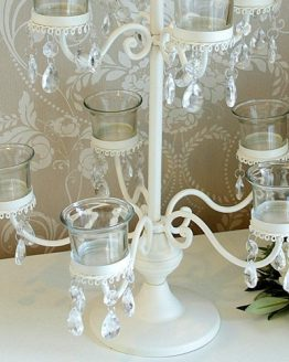 Vintage Cream Tea Light Candelabra Hire
