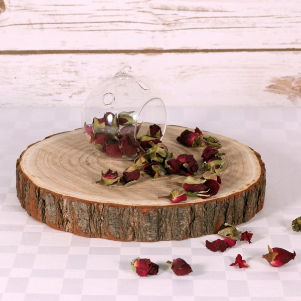 Wood Slice Chargers: Natural Wood Log Slice