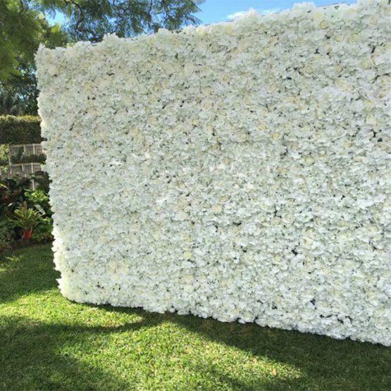 Cream Hydrangea Flower Wall