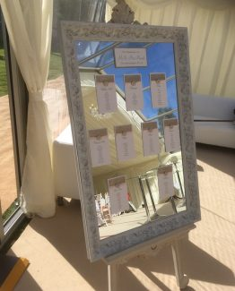 Large White Shabby Chic Mirror & Easel