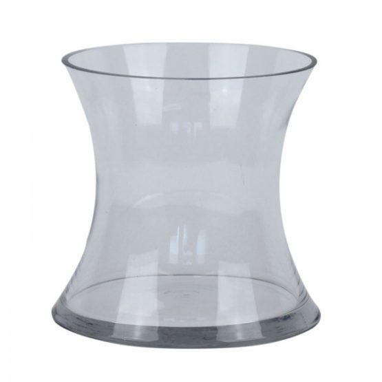 17cm Concave Glass Vase