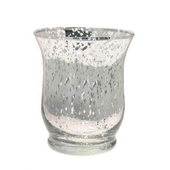 Silver Hurricane Vase