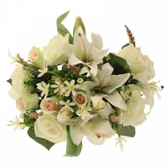 Cream Tiger Lily Rose Bunch