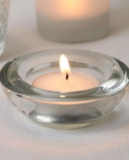 Clear Round Tealight Holder