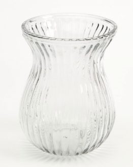 18cm Clear Glass Gina Vase