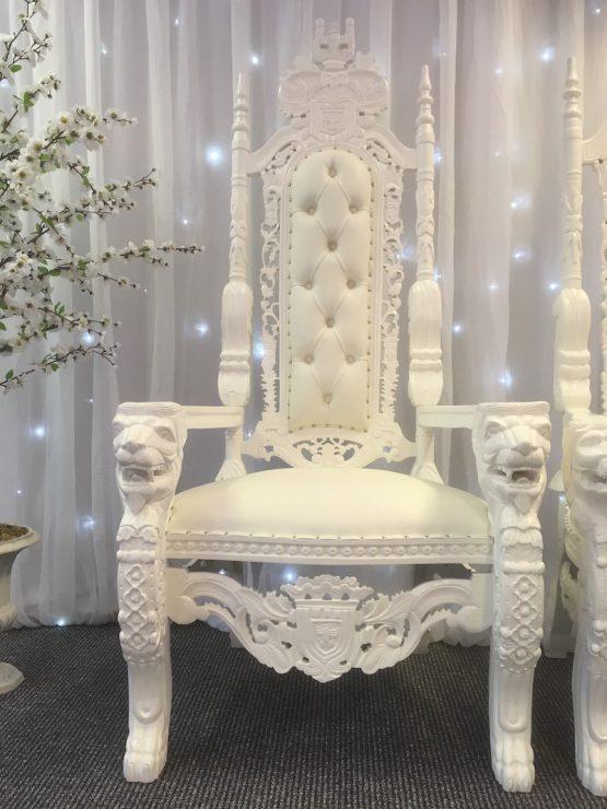 White Wedding Thrones Hire