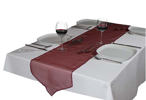 Organza table runner