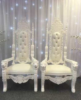 White Wedding Thrones Hire