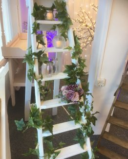 White Wedding Stepladder hire