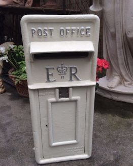 White ERII Post Box