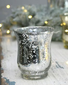 Speckled Silver Hurricane Vase for Hire
