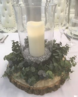 Hurricane Vase Table Centrepeice Hire
