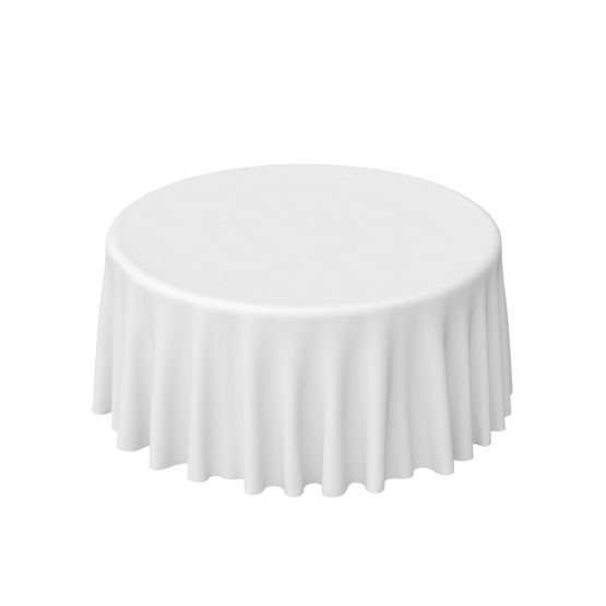 Round Tablecloth Hire - Drop to Floor
