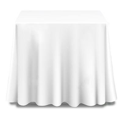 Square Tablecloth Hire - Drop to Floor